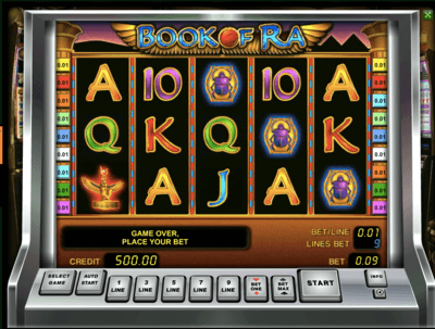 test online casino bool of ra